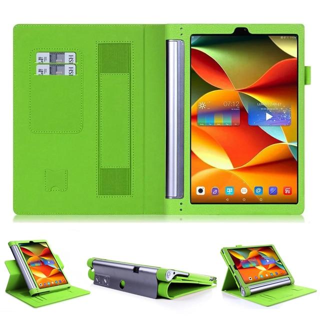 Высокое качество кожаный чехол чехол Для Lenovo Yoga Tab3 Tab 3 Plus YT-X703F 10.1 дюймов Tablet чехол + Стилус
