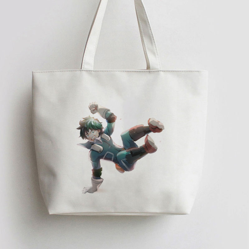 My Hero Academia Smash deku . bakugou katsuki Anime bag Handbag Canvas bag Cartoon Cute Gift school bag Shopping Tote AN039