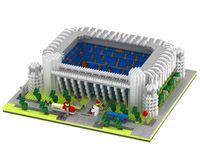 Europe Spain La Liga Football team Field Malaga rose garden micro diamond building block Stadium nanoblock brick toy Collection