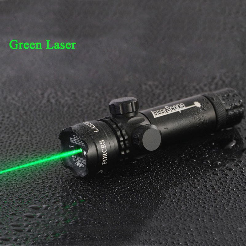 High Quality Tactical 5mw Laser Aluminum Rifle Scope Green Red Dot Laser Sight Riflescope For Hunting Airsoft Air Guns Handgun 3 10x42 red laser m9b tactical rifle scope red green mil dot reticle with side mounted red laser guaranteed 100%