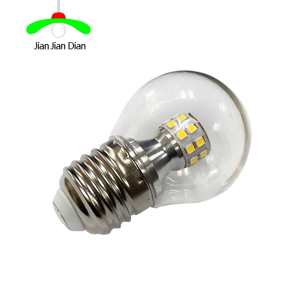 JianJianDian LED bulb E27 5W 110V 220V Lampada LED Bulb High Luminous Crystal LED Light Pipe Bombillas LED Lighting G45 led lamp