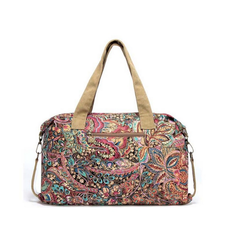 Black Butterfly original design Women Handbag Ethnic Style Print Flower Canvas Large Tote Fashion Shoulder Lady travel Bag in Top Handle Bags from Luggage Bags