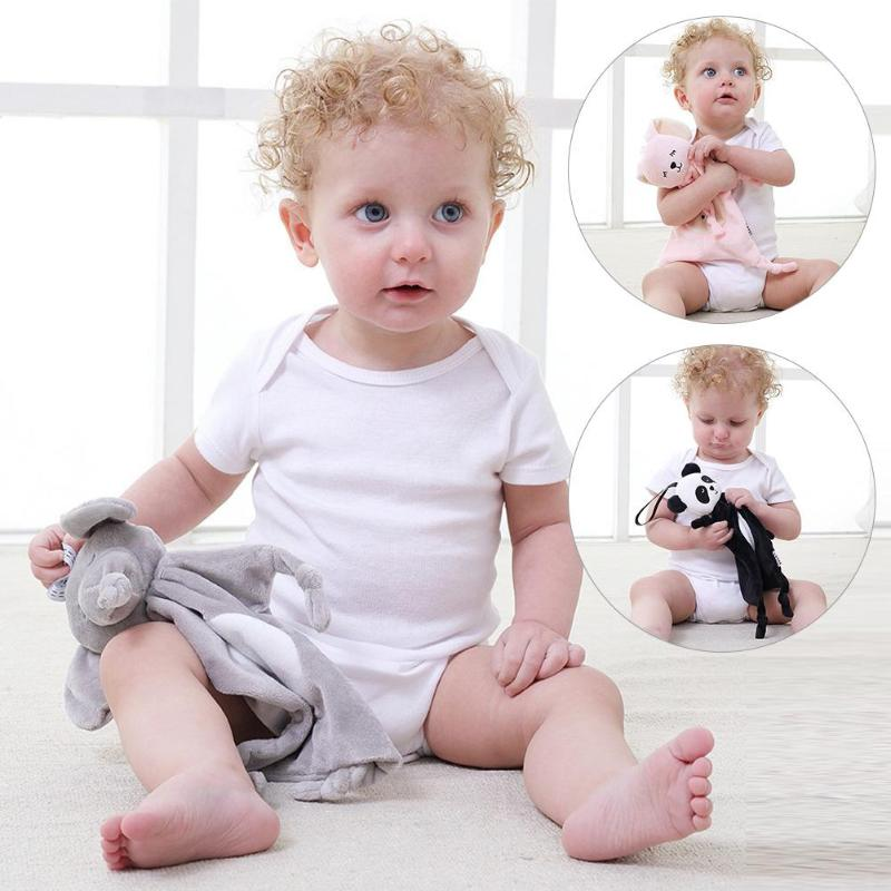 Newborn Soft Soothing Towels Baby Toys Animal Shape Infant Baby Gifts Soft Soothe Towel Educational Plush Muti-function Toys