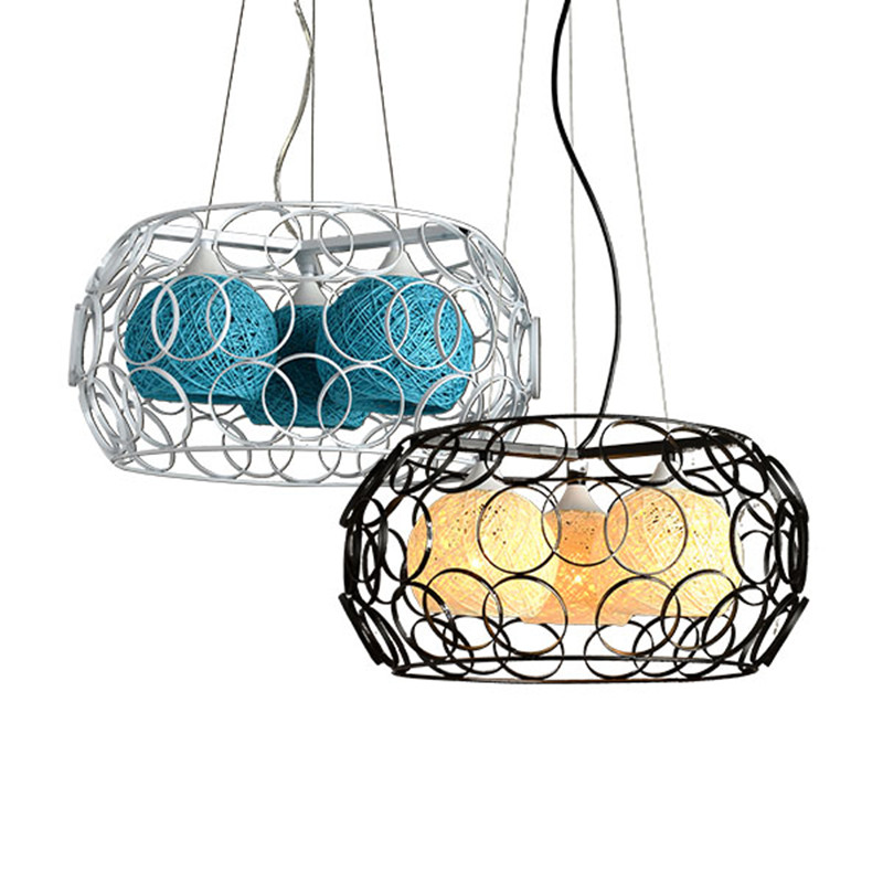 New Creative Rattan Ball LED String Fairy Lights Wicker Pendant Light For Christmas Xmas Wedding decoration Party bar aisle lamp