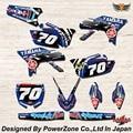 WR YZ YZF 125 250 400 450 Команда Графика Фоны наклейки Наклейки Y70 кроссовых Мотоциклов Байк MX Гонки части