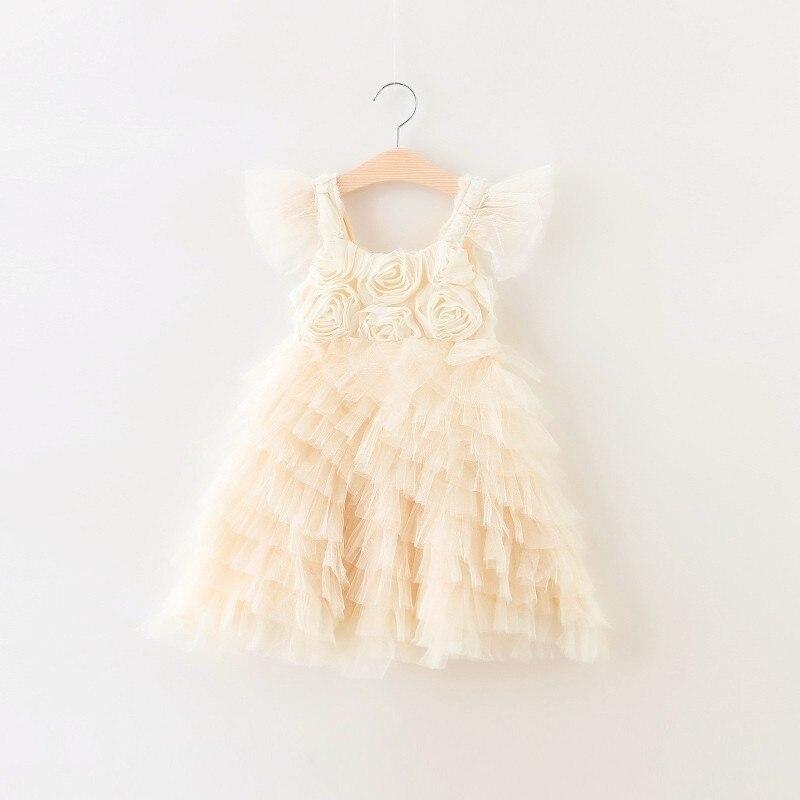 Retail  2017 Girls summer flowers dress ,  princess dress , Birthday party dress, wedding dress,FCL08