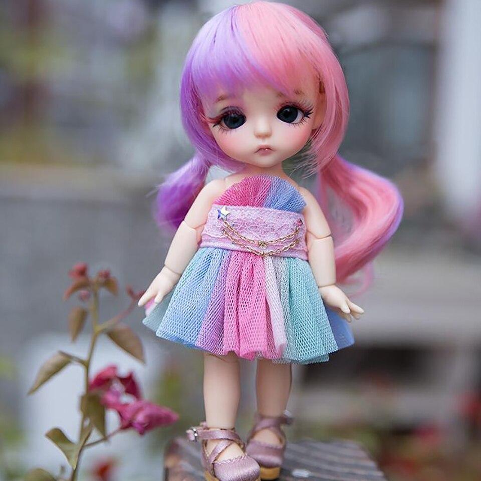 Bybrana Short Curly Bangs Hair 1/8 1/12 BJD Wigs High Temperature Fiber For Dolls