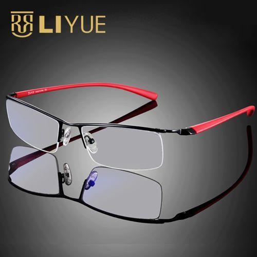 Gafas de ordenador Gafas de montura Gafas de juego con lentes transparentes de rayos azules Hombres Gafas de anteojos resistentes a la radiación Gafas 8199