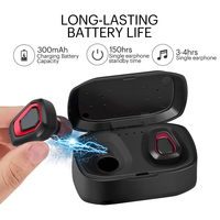 TWS True Wireless Earbuds Bluetooth Mini Headsets Stereo Handfree Sports Bluetooth Earphones with Charging Box For Phones