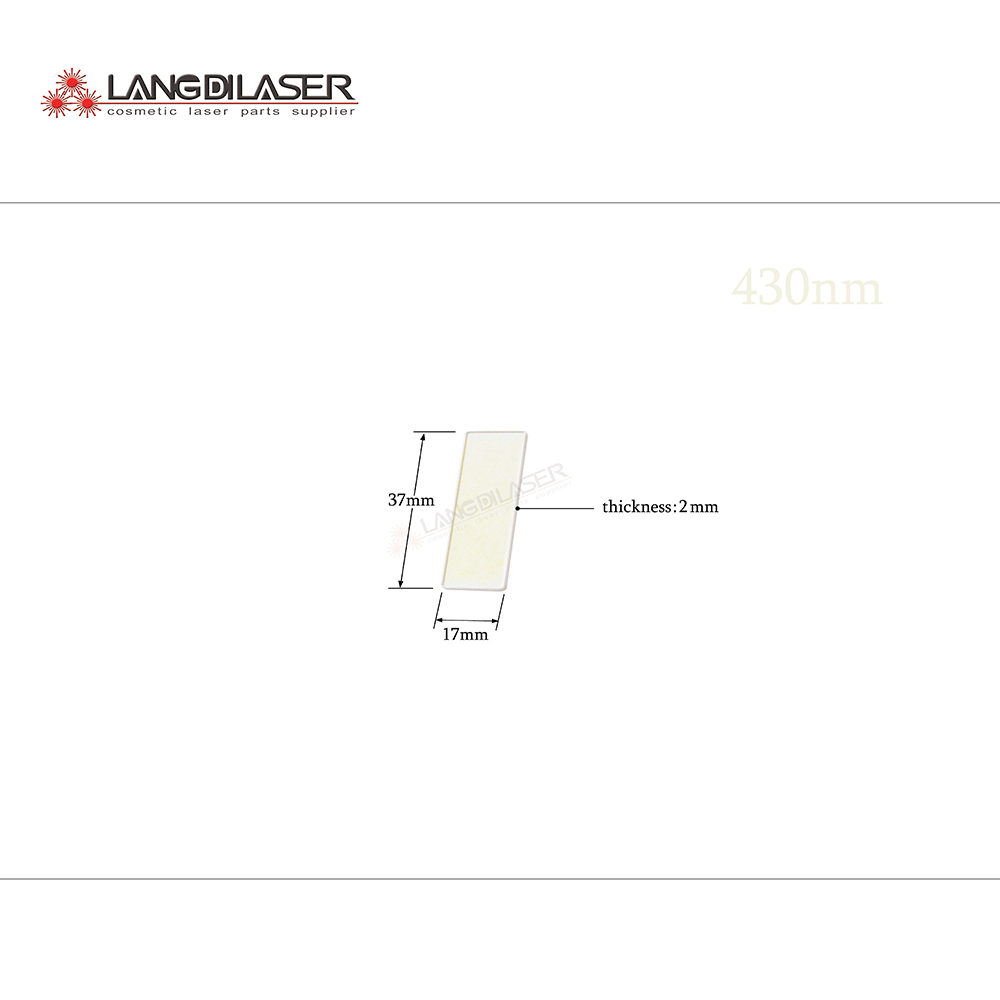 430nm 1200nm filter size 37 17 2mm optic filter for IPL laser machines