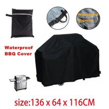 Portable Waterproof BBQ Grill Black Cover Garden Patio Rain Anti Dust Proof Barbecue Party Protecter Shield недорого