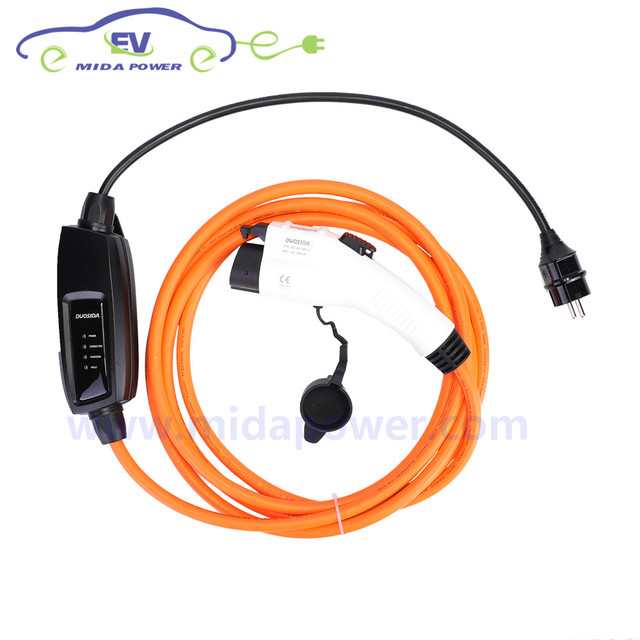 16amp 5meter Sae J1772 Type 1 Female Ev Connector Eu Schuko Plug Evse Portable Charging Level 2 Charger Home Cable