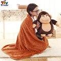 Mono de peluche Chimpancés Gorilas Portátil Manta Cojín Calentador de La Mano de Peluche de Juguete Muñeca Bebé Embroma Cumpleaños Regalo de la Ducha Triver