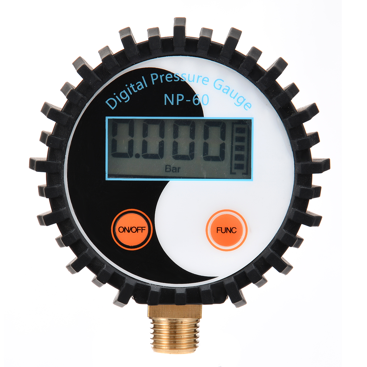 1pc Battery Power Digital Air Pressure Gauge Gas Pressure Gauge Tester Tool 0-200PSI NP-60 G1/4 with Vibration Resistance free shipping g1 ports air filter regulator model aw5000 10 with pressure gauge 5pcs in lot high flow rate in stock