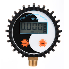 1pc Battery Power Digital Air Pressure Gauge Gas Tester Tool 0-200PSI NP-60 G1/4 with Vibration Resistance