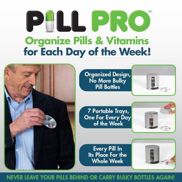 8 шт. Deluxe доступным 7 Портативный лотки Pill Pro бутылки еженедельно Orgnizer коробка ...