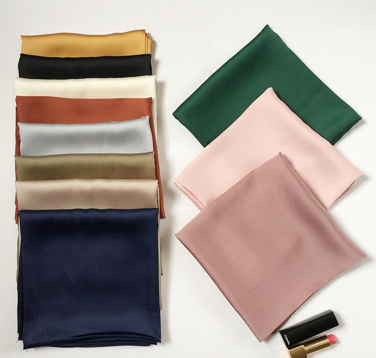 2019 Luxury Brand Bags SCARF Women's Scarf Fashion Lady Silk Square Scarves Solid Color For Lady Scarf