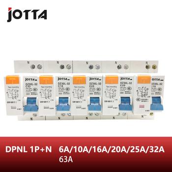 DPNL 1P + N 16A 20A 25A 32A 63A 230V ~ 50 HZ 60 HZ wyłącznik różnicowo-prądowy z zabezpieczeniem nadprądowym i przeciekowym RCBO tanie i dobre opinie JOTTA Rezydualna aktualny DPNL 1P+N