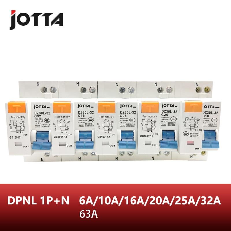 Transparent 1P+N 16A 230V~ 50HZ//60HZ Residual current Circuit breaker RCBO