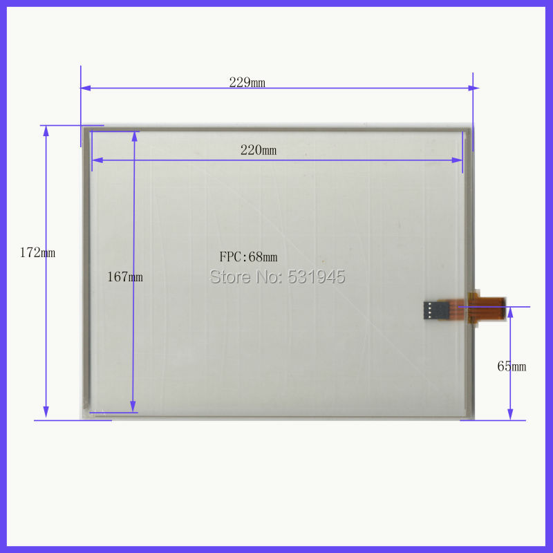 NEW 10.4 Inch Touch Screen 229mm*172mm 4 wire resistive USB touch panel 229*172 Free Shipping on conputer and display