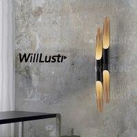 Willlustr Колтрейн настенный светильник просто мода настенные бра свет алюминиевая труба минимализм один две трубки отель спальня lounge