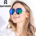 BAVIRON Brand Round Glasses HD Polarized Sunglasses Wrap Mirror Women Sun Glasses Aluminum UV400 Girls Elegant Eyewear Man 971