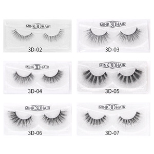 Image 4 - Sexy curly Mink Hair False Eyelashes 3D Natural/Thick Long Eye Lashes Wispy Eye Makeup Tools Faux Eye Lashes