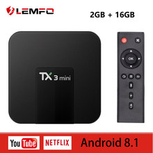 ĐỒNG HỒ THÔNG MINH LEMFO TX3 Mini Thông Minh Android TV Box Amlogic S905W Quad Core 4 K 2 K HD 3D 2.4G WIFI 2 GB + Tặng kèm Set Top Box Android 8.1 1 GB + 8 GB(China)