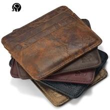 NEW Genuine Leather magic wallet Credit Cart Wallet mini slim wallet card id holders man women