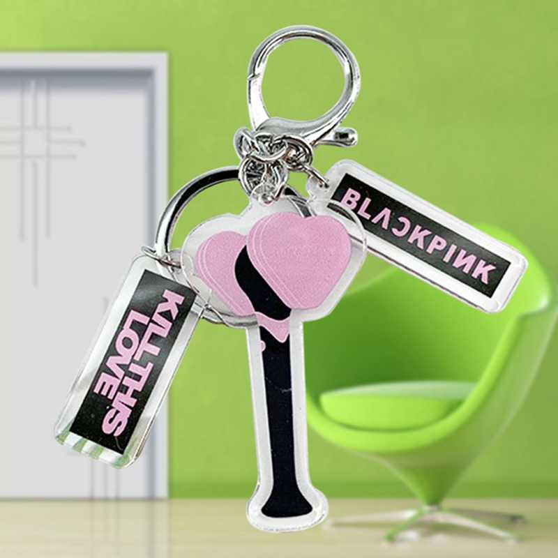 2019 Kpop Keychain Blackpink Exo Got7 Nct פעמיים מפה של הנשמה אלבום אור מקל Keyring אקריליק מפתח טבעת