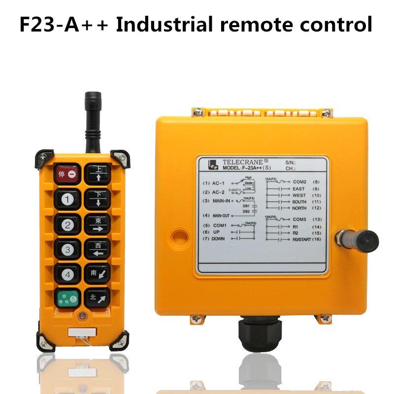 F23-A++ industrial remote control MD wireless crane hoist controller 1T+1R YF23-A++ industrial remote control MD wireless crane hoist controller 1T+1R Y