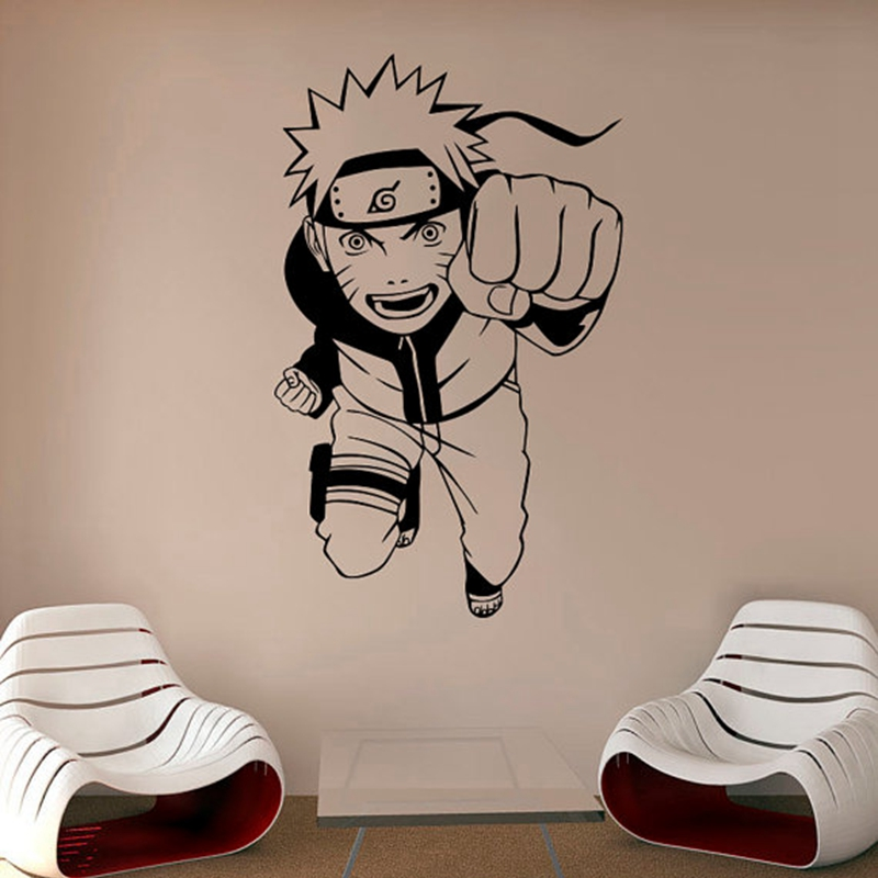 Buy naruto wall vinyl decal anime wall for Stickers para decorar paredes infantiles