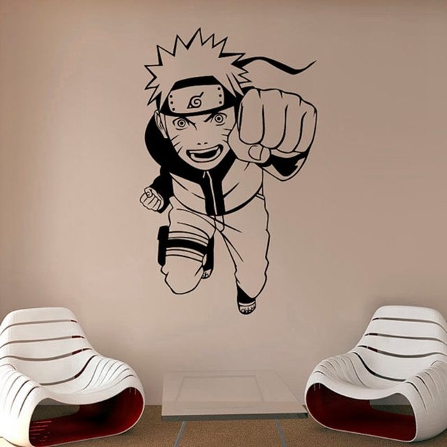 Naruto #2 Wall Stickers in Multiple Colors