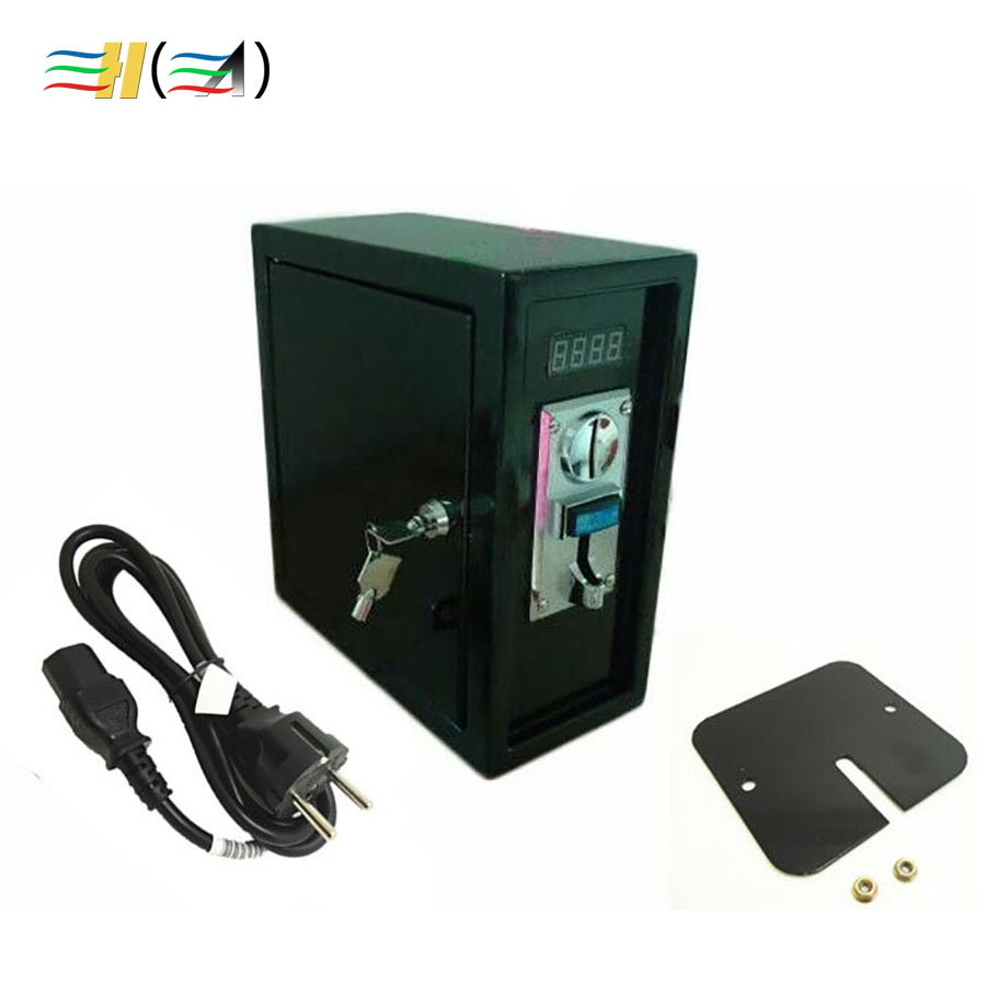 Coin Operated Timer Control Box Timer Power Supply Control Box With Comparable Coin Selector Acceptor for Coin Pusher Machine good quality coin operated tabletop gumball vending machine desktop capsule vending cabinet toy penny in the slot coin vendor