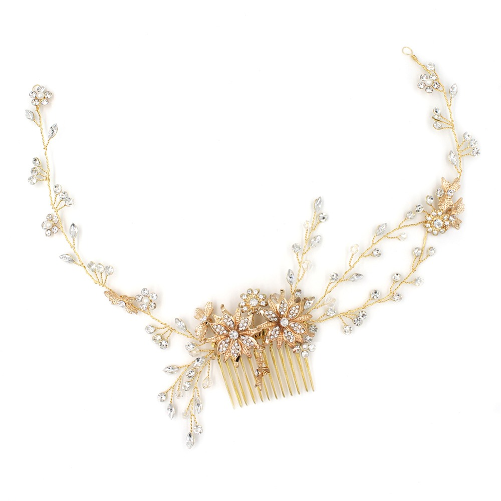 Gorgeous Rhinestones Crystals Pearls Flower Wedding Hair accessories Hair Comb Hair Vine Hairband Bridal Headband Bridesmaids arcteryx phase sv crew ls