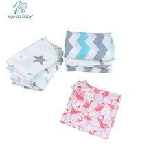 EGMAO BABY 3pcs / lot Muslin 100% Хлопок Baby Blanket Life Shower Sleeping Bath полотенце для новорожденных Aden Anais для новорожденных