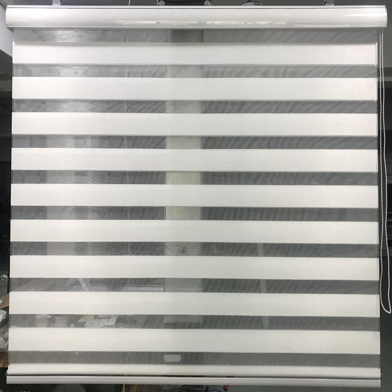 Zebra Blinds Horizontal Window Shade Double layer Roller Blinds Window Custom Cut to Size Ivory Curtains
