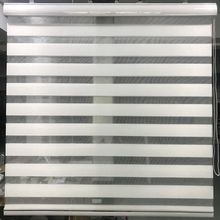 Zebra Blinds Horizontal Window Shade Double layer Roller Blinds Window Custom Cut to Size Ivory Curtains for Living Room