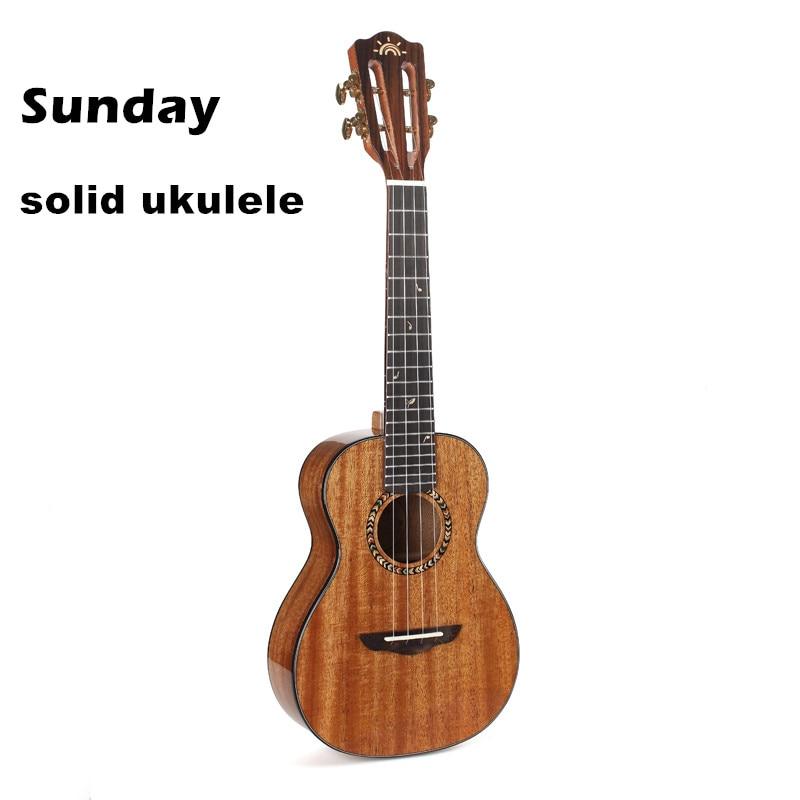 Sunday Solid Ukulele Concert Tenor Professional Electric Ukulele 23 Solid Mahogany Ukelele 26 Musical Stringed Instruments