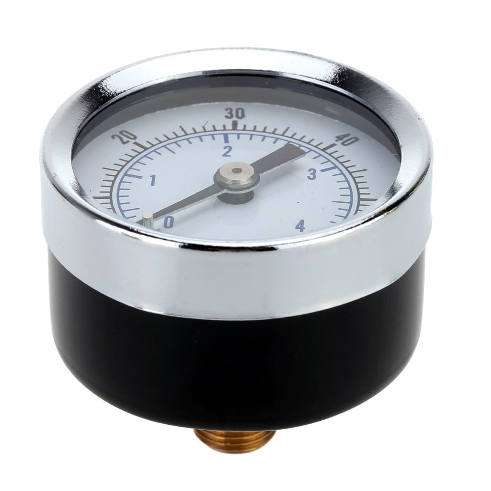 "0-60 PSI Hydraulic Pressure Gauge 1/8"" NPT Air Compressor Back Mount 1.5"" Dial Plate Pressure Diagnostic-tool Accurate Manometer"