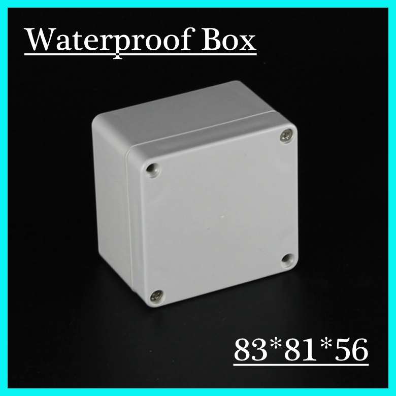 (1 piece/lot) 83*81*56mm Grey ABS Plastic IP65 Waterproof Enclosure PVC Junction Box Electronic Project Instrument Case waterproof abs plastic electronic box white case 6 size