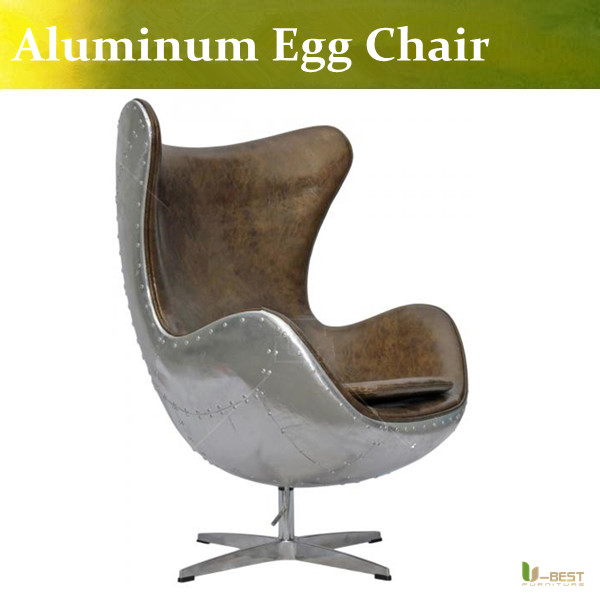 Aliexpress.com : Buy U BEST Genuine Leather Aluminum Egg Chair Modern  Fashion Design In Brown Color,Leather Armchairs Aviator Tomcat Chair From  Reliable ...