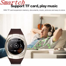 Smartch T60 Smart Watch Round Support Nano SIM&TF Card With WhatsApp And Facebook Fitness Business Smartwatch For IOS Android