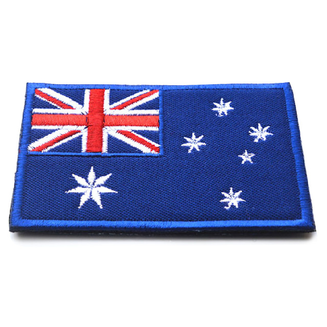 Embroidered Patch Flag of Australia Australian Aussie Oz Down under Applique Iron-on Patch Apparel Sewing Fabric Accessories