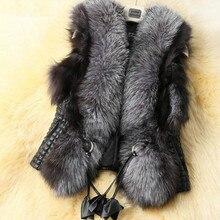 Winter Black Faux Fur Vest Warm Fur Jacket Coats for Women Sleeveless Jacket Fur Tank Tops Sashes Plus Size:S-XXXL 2018 Spring