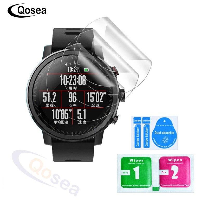 Qosea (3 PACK) pour Xiaomi Huami Amazfit Stratos Rythme 2 Intelligents Sport W atch Protecteur D'écran 3X LCD Guard Shield Film de Couverture de Peau