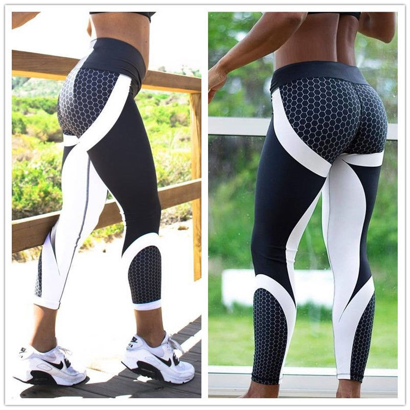 New Fitness Leggings Women Mesh Breathable High Waist Sport Legins Femme Workout Legging Push Up Elastic Slim Pants DropShipping