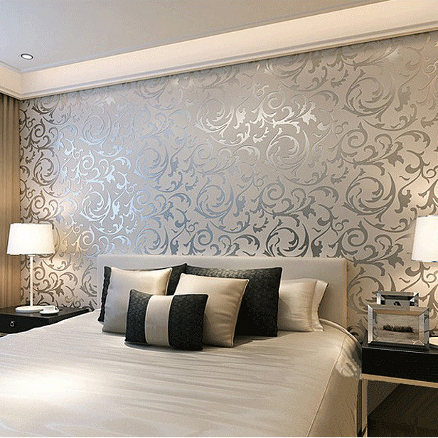 Bedroom Wallpaper Decorating Ideas Interesting Simple European 3D Stereoscopic Relief Crochet Woven Wallpaper . 2017
