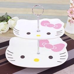 Leopard Cat, Kitty Cat, Fruit Platter, Double Fruit Platter, Cake Plate, Afternoon Tea, Heart Dish, Fashion Creative Gift