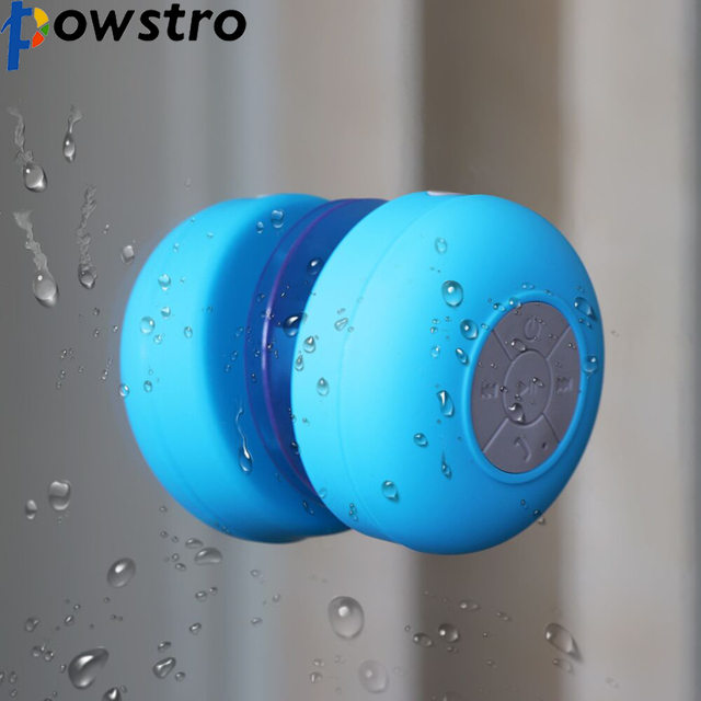Powstro Mini Portable Subwoofer Shower Bathroom Waterproof Wireless Bluetooth  Speaker Built In Mic Handsfree Call